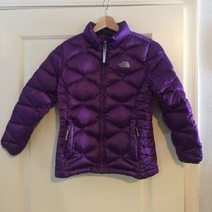 Northface Girls Puffer Jacket Purple 10